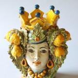 Testa ceramica Caltagirone Sicilia